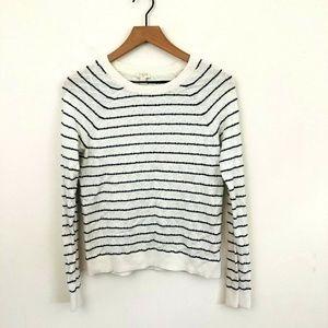 J.Crew Stripe Lightweight Cotton Sweater